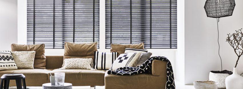 Bece houten raamdecoratie - Tintto Tapishop Vilvoorde